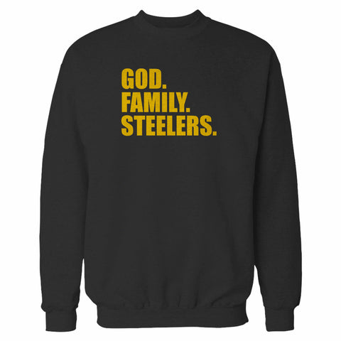Pittsburgh Steelers God Family Steelers Fan Inspired Team Holiday Sweatshirt
