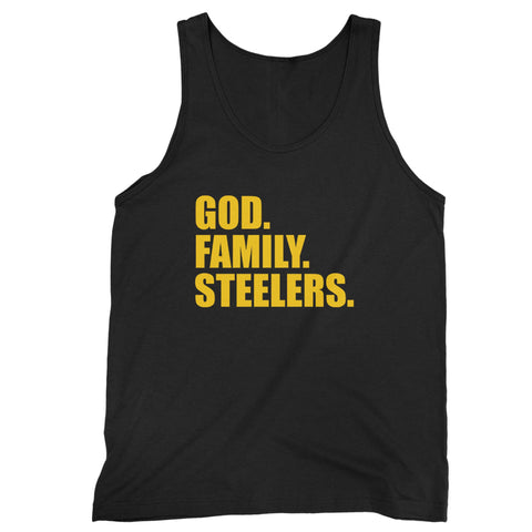 Pittsburgh Steelers God Family Steelers Fan Inspired Team Holiday Man's Tank Top