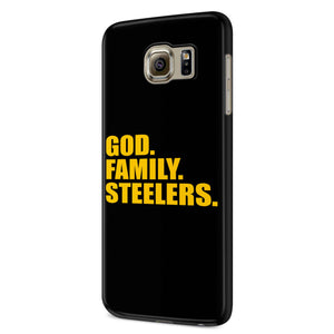 Pittsburgh Steelers God Family Steelers Fan Inspired Team Holiday Samsung Galaxy S6 S6 Edge Plus/ S7 S7 Edge / S8 S8 Plus / S9 S9 plus 3D Case