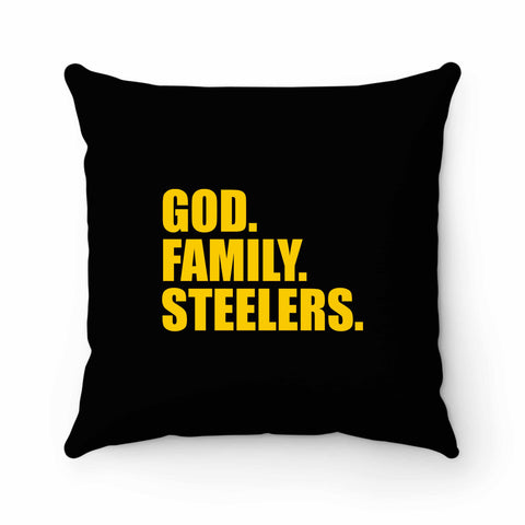 Pittsburgh Steelers God Family Steelers Fan Inspired Team Holiday Pillow Case Cover