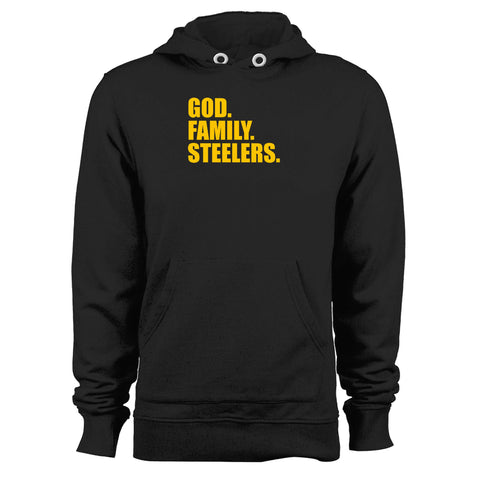 Pittsburgh Steelers God Family Steelers Fan Inspired Team Holiday Unisex Hoodie