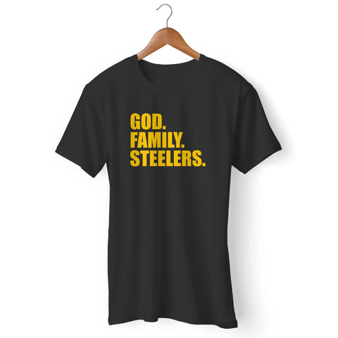 Pittsburgh Steelers God Family Steelers Fan Inspired Team Holiday Man's T-Shirt