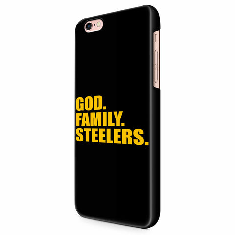 Pittsburgh Steelers God Family Steelers Fan Inspired Team Holiday iPhone 6/6S/6S Plus | 7/7S/7S Plus | 8/8S/8S Plus| X/XS/XR/XS Max 3D Case