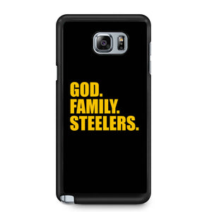 Pittsburgh Steelers God Family Steelers Fan Inspired Team Holiday Samsung Galaxy Note 4 / Note 5 Case