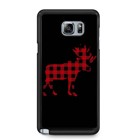 Plaid Moose Samsung Galaxy Note 4 / Note 5 Case