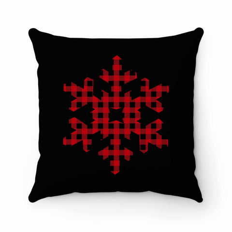 Plaid Snowflake Pillow Case Cover