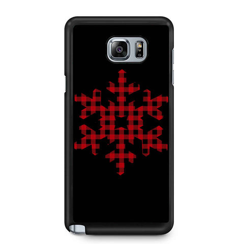 Plaid Snowflake Samsung Galaxy Note 4 / Note 5 Case