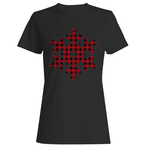 Plaid Snowflake Woman's T-Shirt