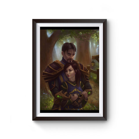 Priest & Warrior In Elwynn Poster