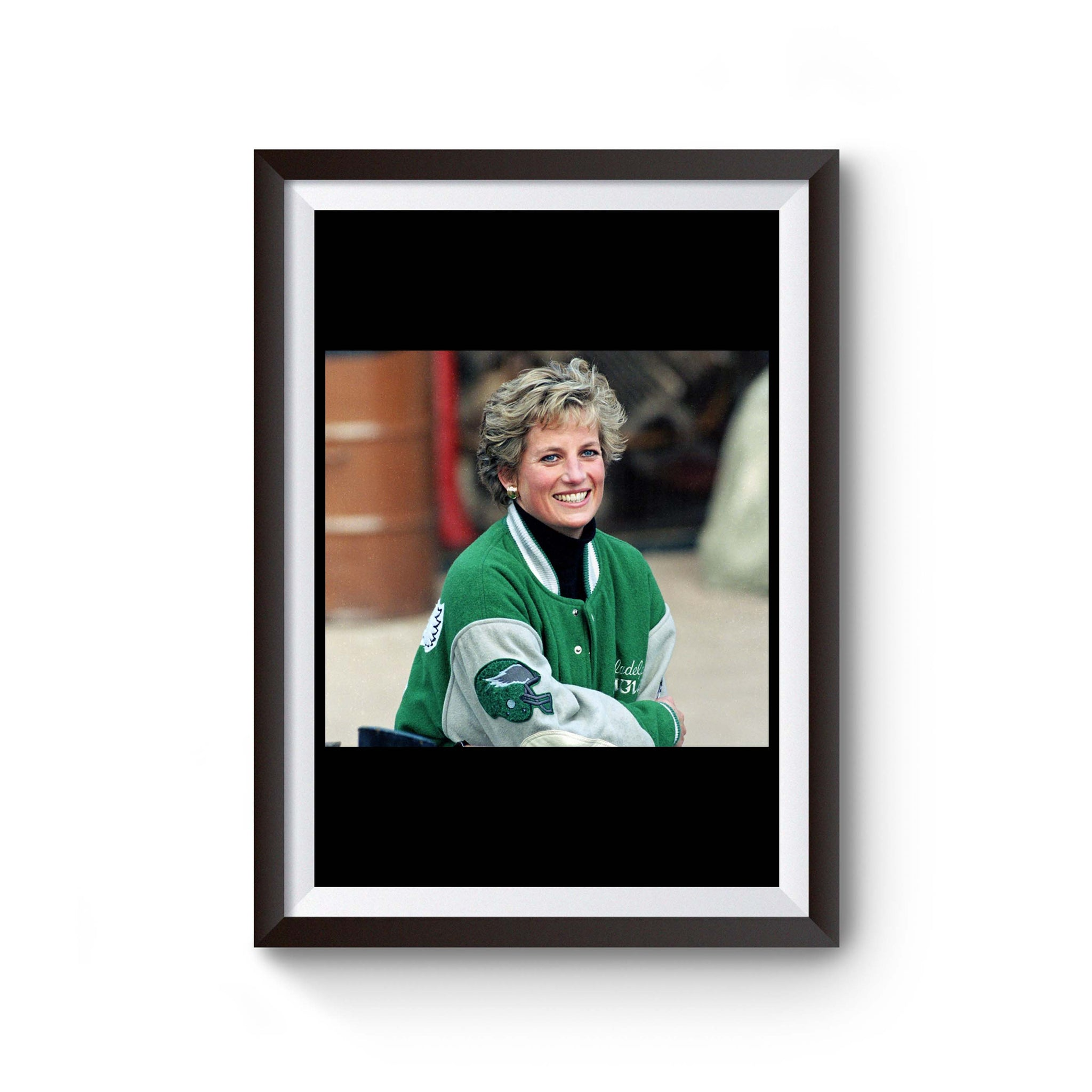 Princess Diana Wearing Philadelphia Eagles Jacket Poster
