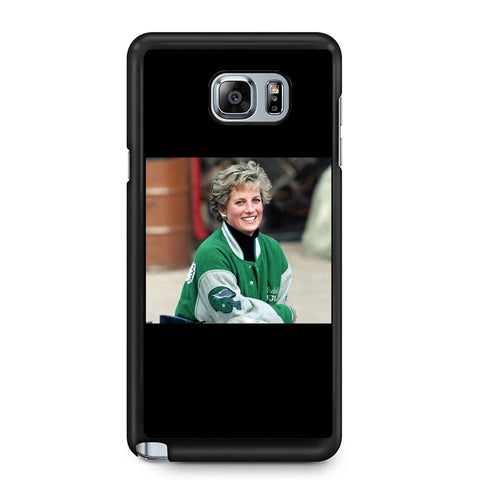 Princess Diana Wearing Philadelphia Eagles Jacket Samsung Galaxy Note 4 / Note 5 Case