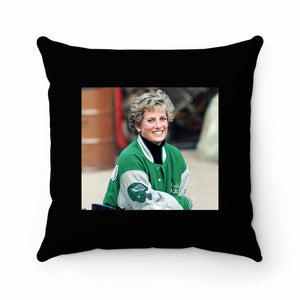 Princess Diana Wearing Philadelphia Eagles Jacket Pillow Case Cover