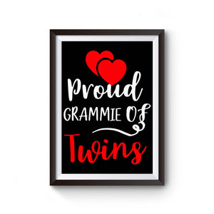 Proud Grammie Of Twins Poster