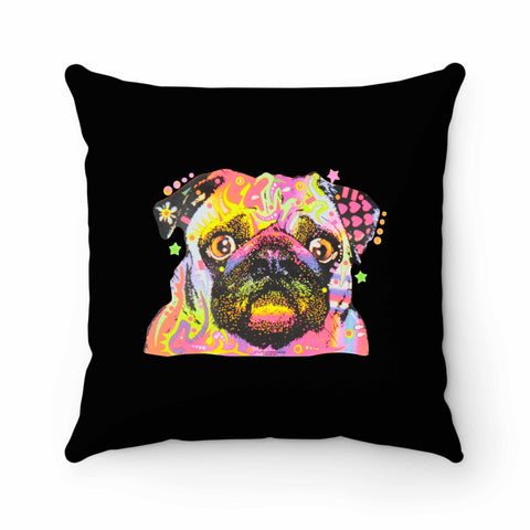 Pug Dog Painting Art Pillow Case Cover