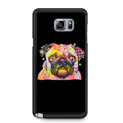 Pug Dog Painting Art Samsung Galaxy Note 4 / Note 5 Case