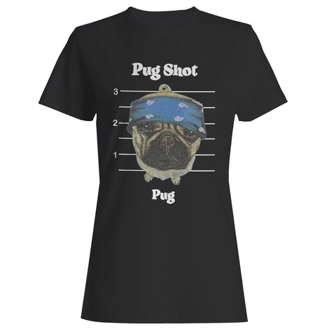 Pug Shot Pug Dog Woman's T-Shirt