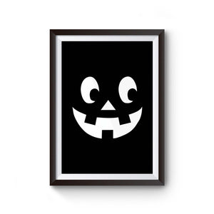 Pumpkin Face Jack O Lantern Halloween Scary Pumpkin Face Halloween Party Pumpkin Face Happy Halloween Poster