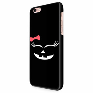 Pumpkin Halloween Jack O Lantern Face With Hair Ribbon Cute iPhone 6/6S/6S Plus | 7/7S/7S Plus | 8/8S/8S Plus| X/XS/XR/XS Max 3D Case