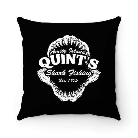 Quints Shark Fishing Jaws Pillow Case Cover