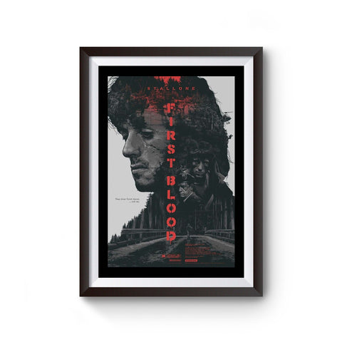 Rambo First Blood Sylvester Stallone Poster
