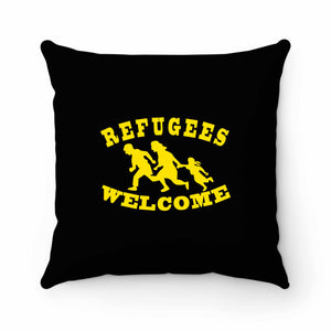 Refugees Welcome Pillow Case Cover