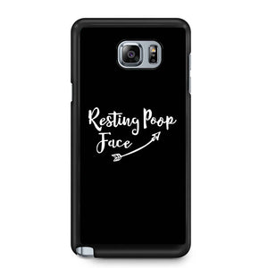Resting Poop Face Samsung Galaxy Note 4 / Note 5 Case