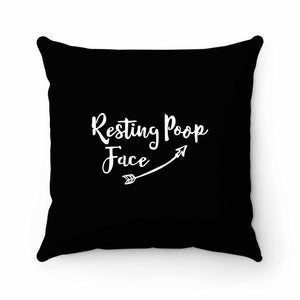 Resting Poop Face Pillow Case Cover