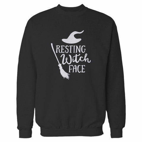 Resting Witch Face Halloween Party Costume Funny Halloween Sweatshirt