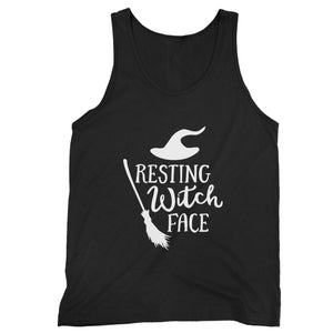 Resting Witch Face Halloween Party Costume Funny Halloween Man's Tank Top