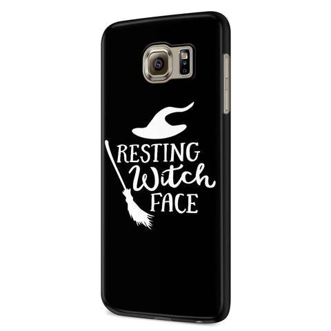 Resting Witch Face Halloween Party Costume Funny Halloween Samsung Galaxy S6 S6 Edge Plus/ S7 S7 Edge / S8 S8 Plus / S9 S9 plus 3D Case