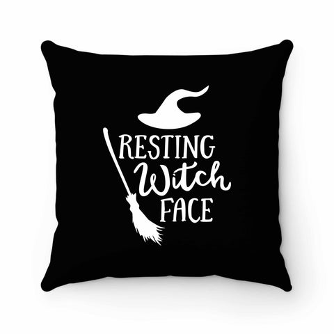 Resting Witch Face Halloween Party Costume Funny Halloween Pillow Case Cover