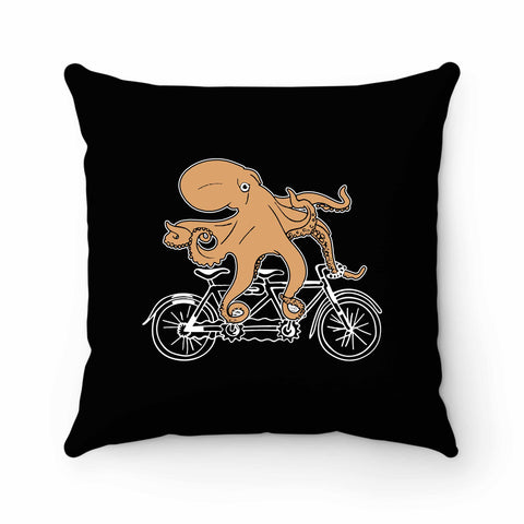 Riding Bike Octopus Pillow Case Cover