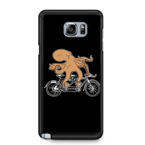 Riding Bike Octopus Samsung Galaxy Note 4 / Note 5 Case