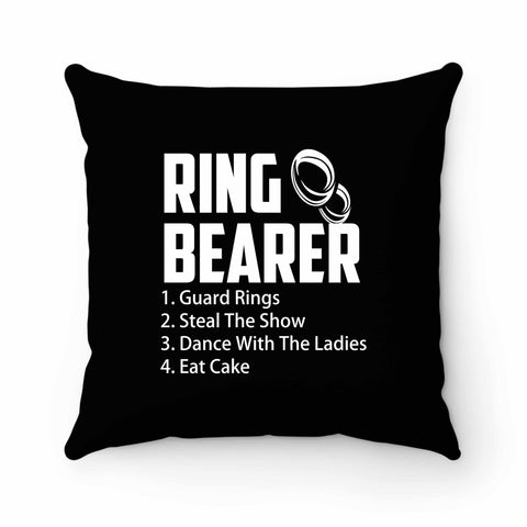 Ring Bearer Rules Ring Bearer Pillow Case Cover