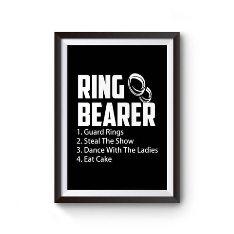 Ring Bearer Rules Ring Bearer Poster