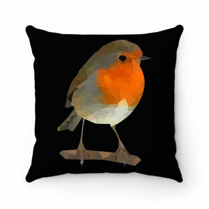 Robin Low Poly Pillow Case Cover