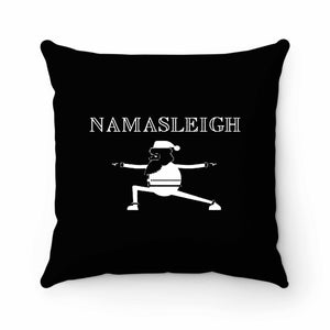 Santa Claus Namasleigh Yoga Pillow Case Cover