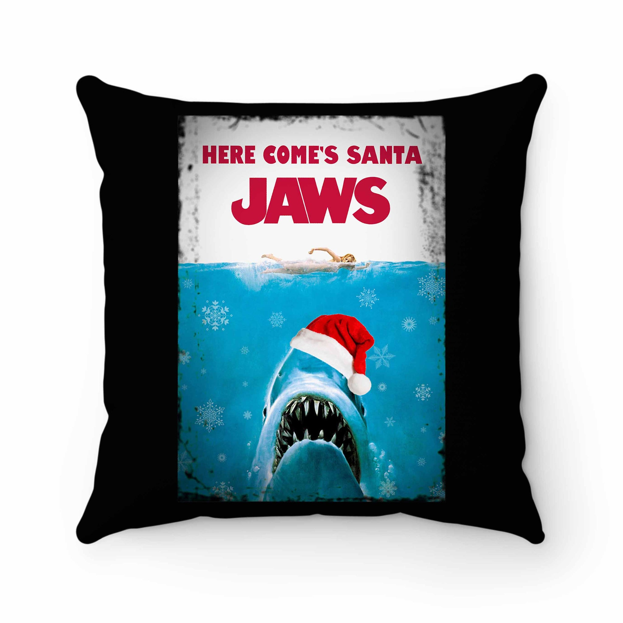 Santa Jaws Christmas 1 Pillow Case Cover