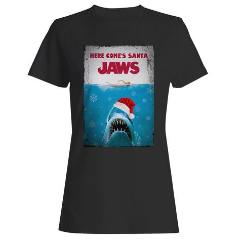 Santa Jaws Christmas 1 Woman's T-Shirt