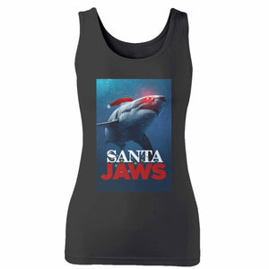 Santa Jaws Christmas 2 Woman's Tank Top
