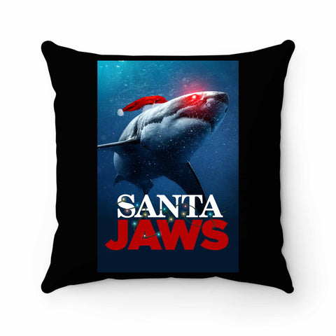 Santa Jaws Christmas 2 Pillow Case Cover