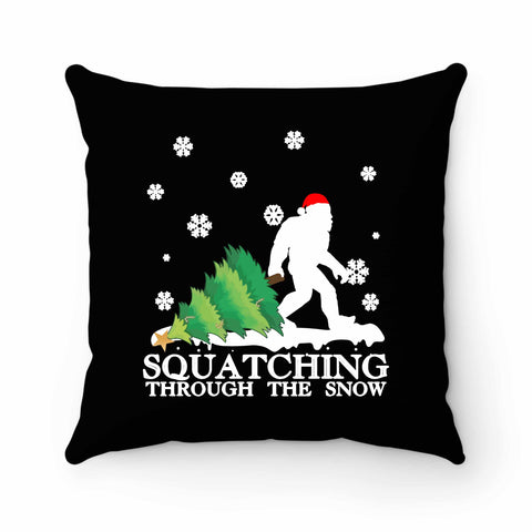 Sasquatch Christmas Pillow Case Cover