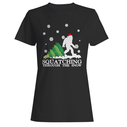 Sasquatch Christmas Woman's T-Shirt