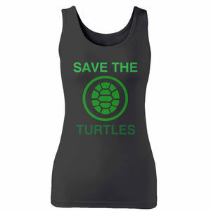 Save The Turtles Woman's Tank Top