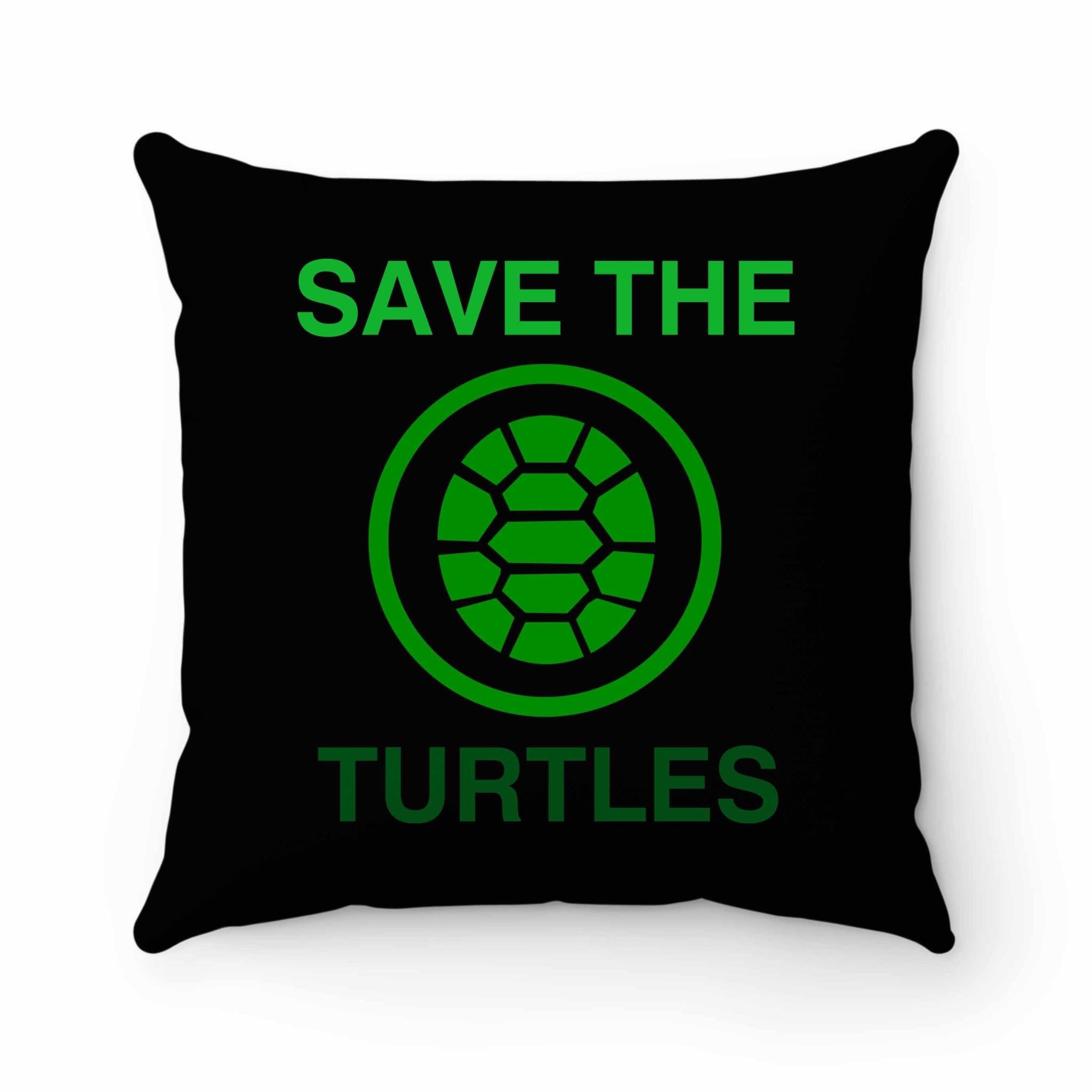 Save The Turtles Pillow Case Cover