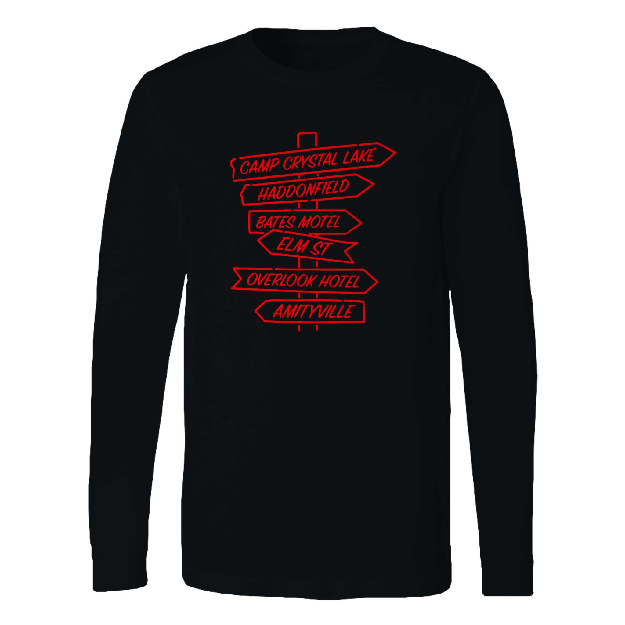 Scary Horror Long Sleeve T-Shirt