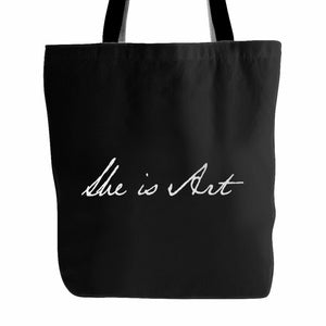 She Is Art Tote Bag