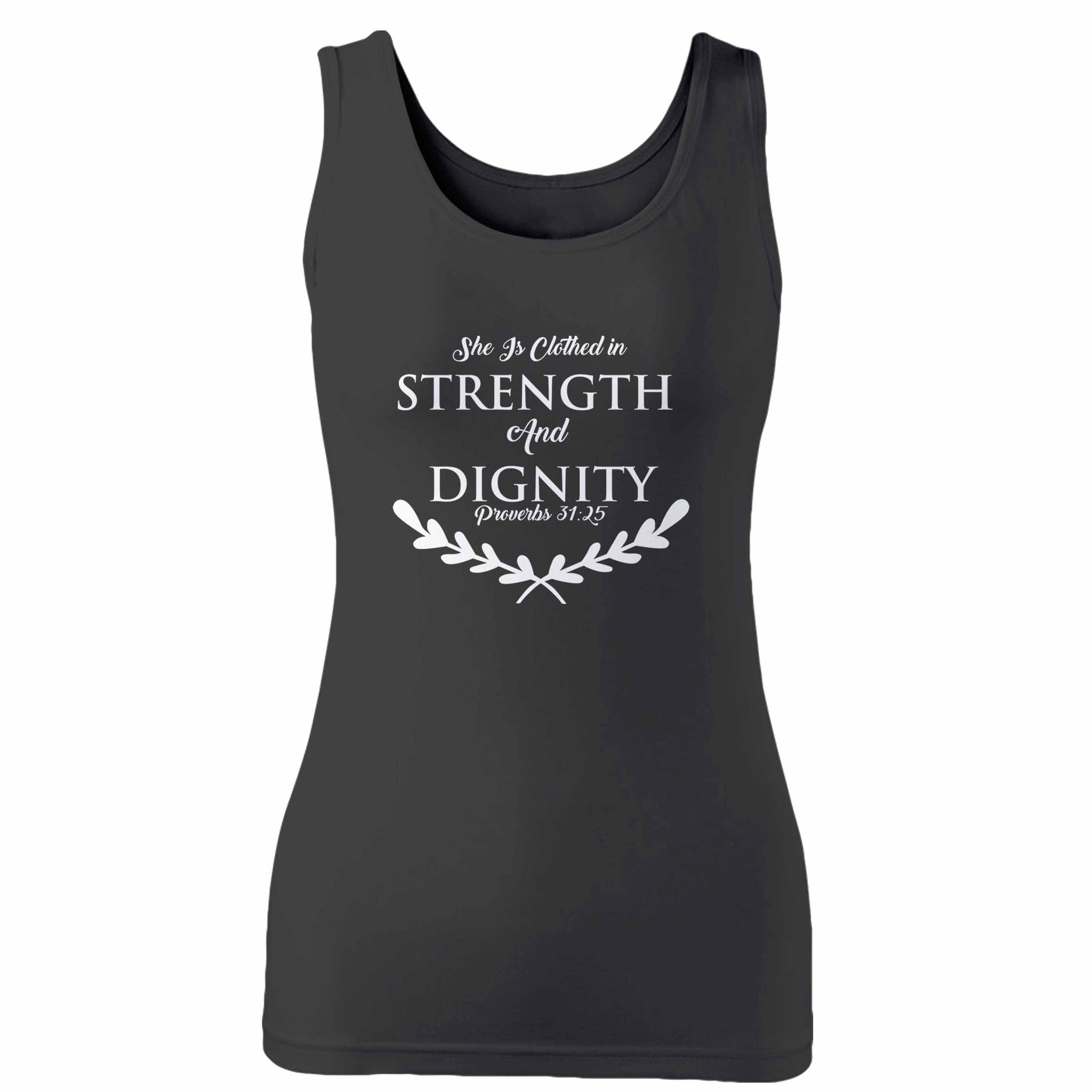 She Is Clothed In Strength & Dignity Christian Proverbs 31 25 Woman's Tank Top