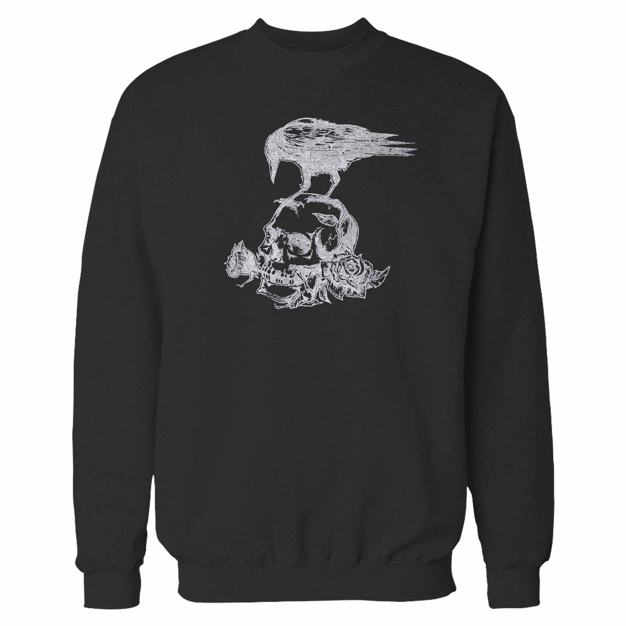 Skull Roses Crow Tattoo Sweatshirt