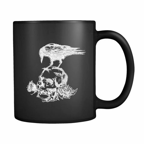 Skull Roses Crow Tattoo 11oz Mug